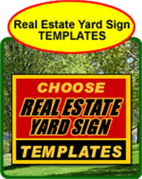 Real Estate Sign Template yard sign templates