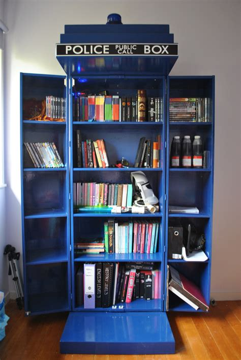 tardis bookcase i a feeling that one day my home