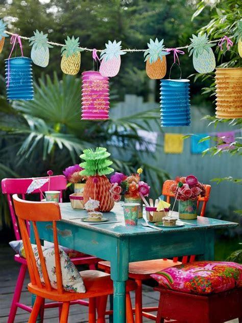 decoracion de una fiesta de verano iv hawaina como