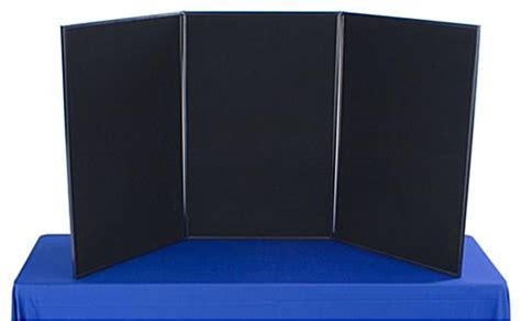 3 panel display board foldable two colored sides to give
