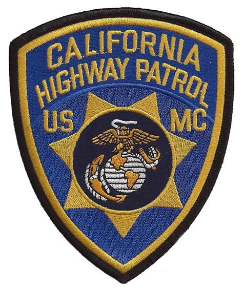 Patchwork Patches - california highway patrol usmc patch