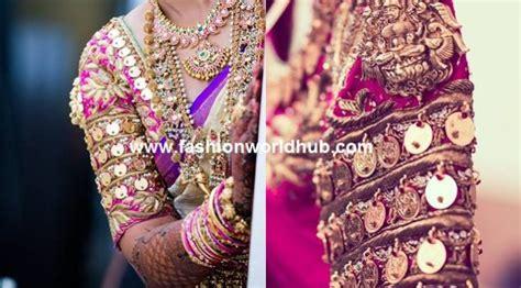 Laksmi Blouse unique blouse design with lakshmi kasu fashionworldhub