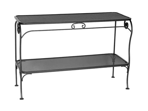 Ow Lee Micro Mesh Wrought Iron 48 X 18 Rectangular Console Outdoor Sofa Table