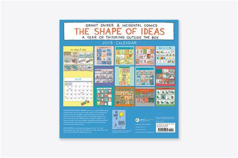 Calendar 2018 Ideas The Shape Of Ideas 2018 Wall Calendar Wall Abrams