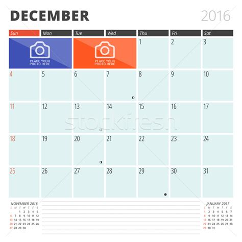 Why Calendars Start On Sunday Calendar Planner 2016 Design Template With Place For