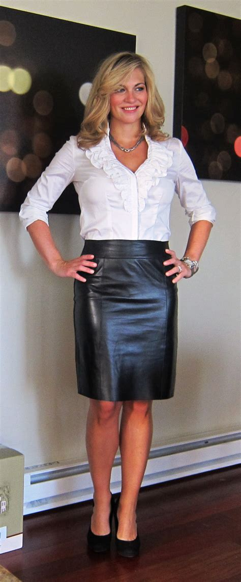 in tight leather pencil skirt images