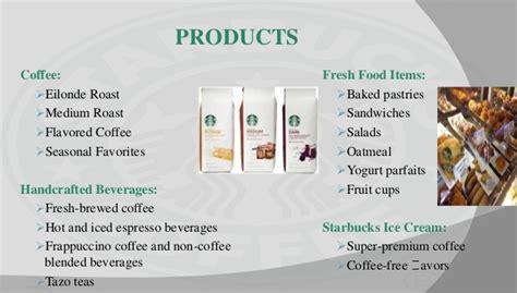 product layout of starbucks starbucks marketing strategy