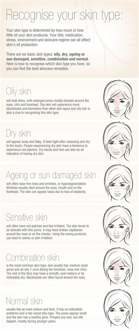 skin types recognize your skin type beauty pinterest