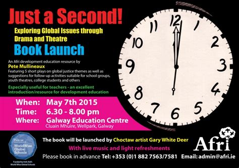 just a second books just a second book launch in galway afri from