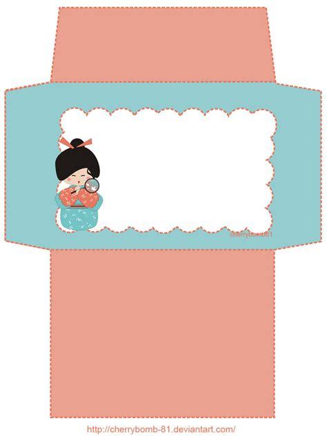 free printable envelope borders stationary envelope kokeshi by cherrybomb 81 on deviantart