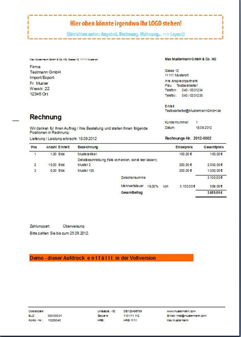 Formeller Brief Anfrage Rechnungsprofi Office 187 World Of Rechnungsprofi
