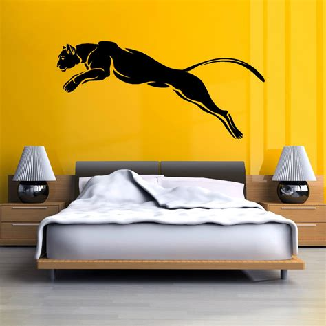 Removable Wall Stickers Ebay black panther puma jaguar cat wild animal vinyl wall art