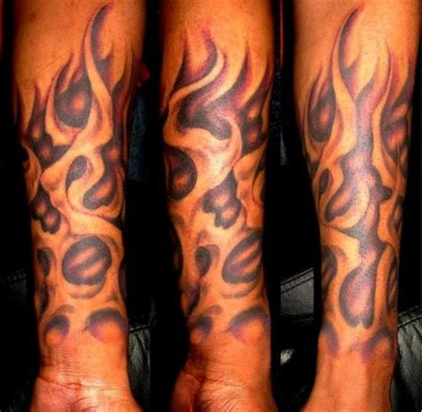 tribal flame sleeve tattoo 58 tattoos