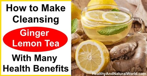 How To Make Lemon Detox Cleanse by How To Make Cleansing Lemon Tea With Many Health