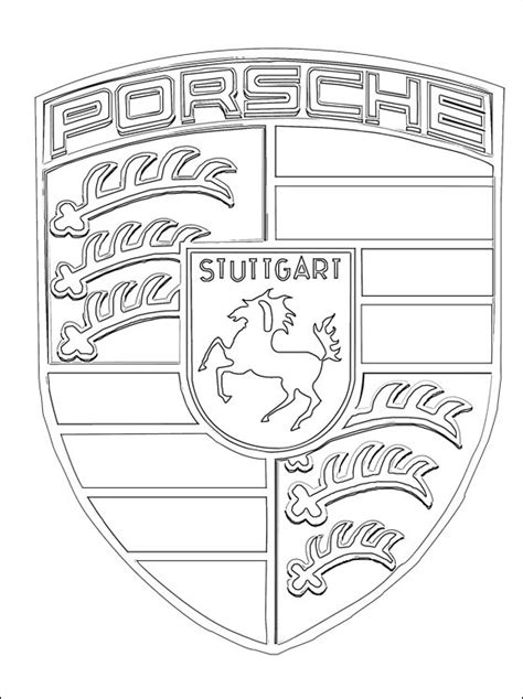 cars logo coloring pages porsche logo coloring page coloring pages