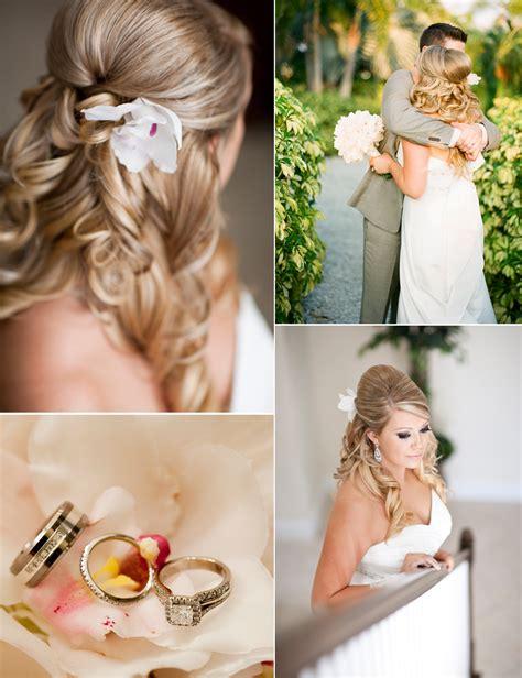 Backyard Wedding Hairstyles Outdoor Wedding In Florida Wears Half Up Wedding