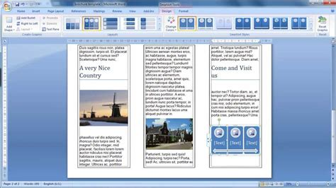 leaflet design on word make a brochure from scratch in word 2007 youtube