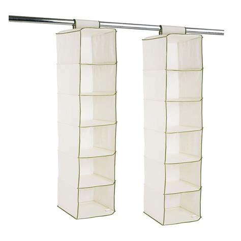 Wardrobe Organisers by Hanging Wardrobe Two 6 Shelf Hanging Wardrobe