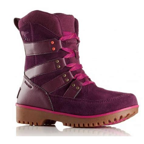 sorel youth meadow lace y2414 purple dahlia waterproof