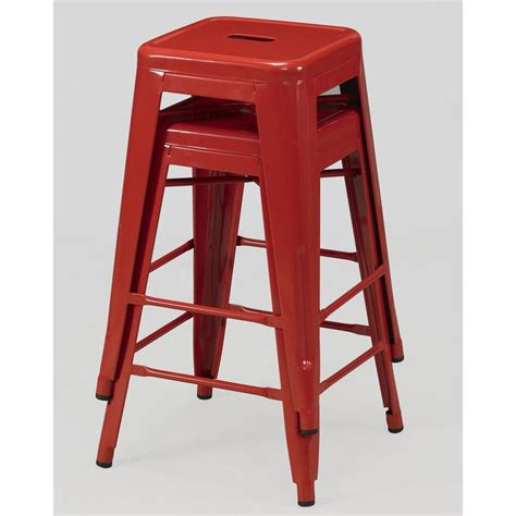 best deals on bar stools tabouret 24 inch red metal counter stools set of 2