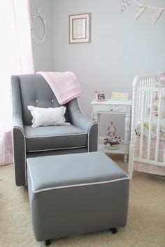 Savvy Glider And Ottoman Buy Buy Baby Savvy Glider Grey W White Piping Buttons On Back Custom Order Ottoman