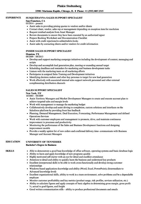 Business Support Specialist Sle Resume by Business Support Specialist Sle Resume Critical Care Sle Resume