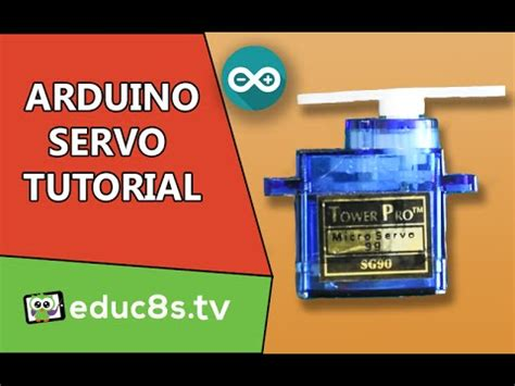 arduino tutorial menu arduino tutorial using a servo sg90 with arduino youtube