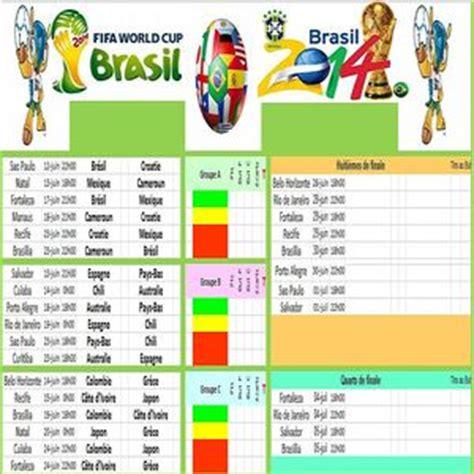 Calendrier Coupe Du Monde 2014 Excel T 233 L 233 Charger Calendrier Coupe Du Monde Br 233 Sil 2014 Pour