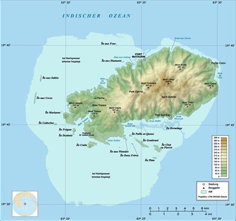 rodrigues island topographic map de topographic map