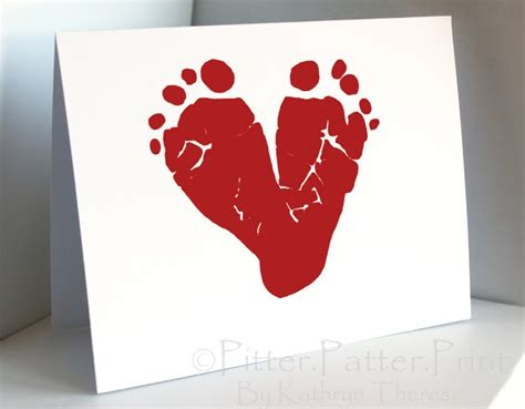 i valentines day cards valentines day card baby footprint card
