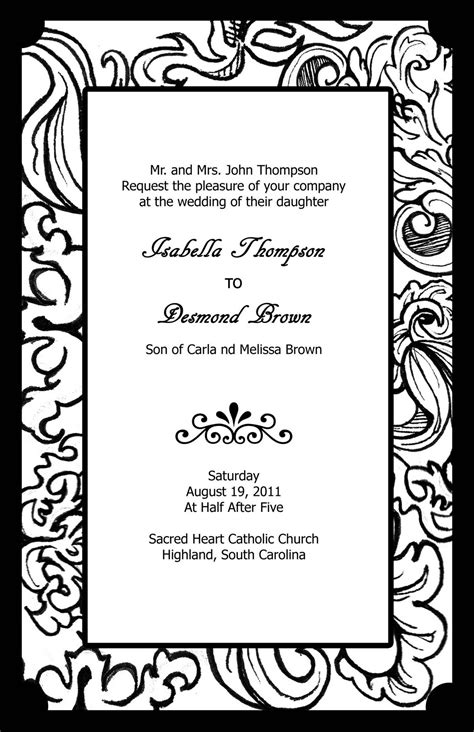 elegant  beautiful wedding invitations   black