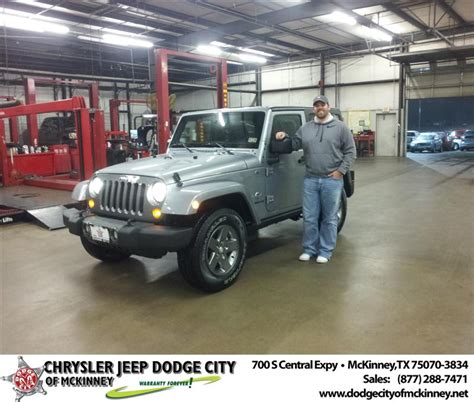 Mckinney Dodge Jeep Happy Anniversary To Brian L Gilmore On Your 2013 Jeep W