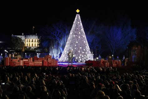 tree lighting ceremony near me obama family lites the national christmas tree for the