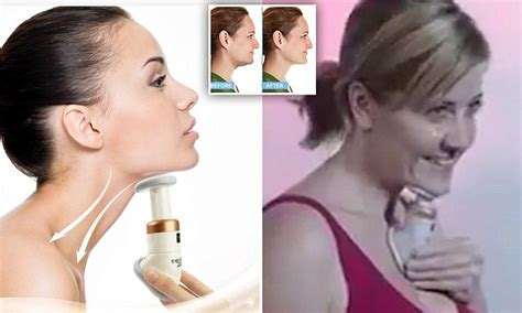 short haircuts for women with turkey kneck neckline slimmer device claims to banish double chins
