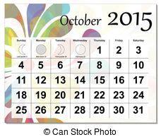 Calendã Outubro Calend 225 Outubro 2015 Outubro Illustration