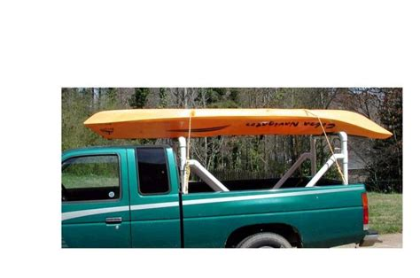 truck bed kayak rack pvc pickup truck rack pics kayaking and kayak fishing