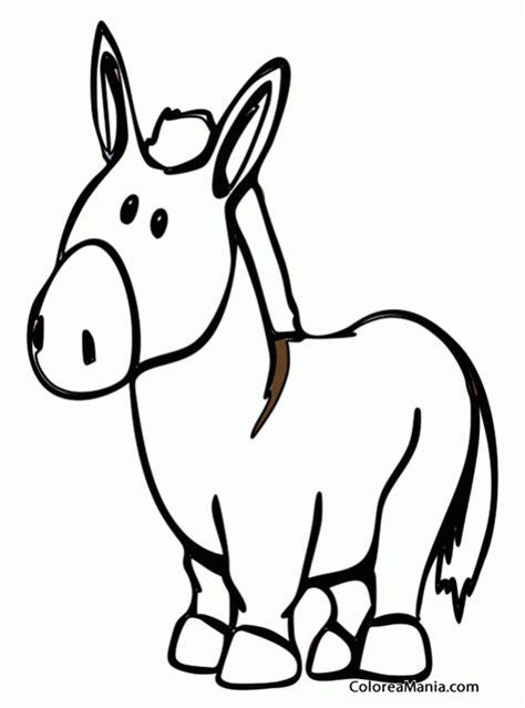 imagenes para colorear burro colorear burro de peluche animales domsticos dibujo