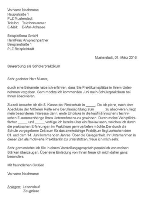 9 Bewerbung Sch 252 Lerpraktikum Muster Resignation Format