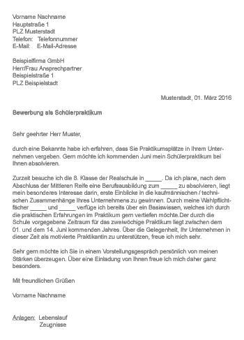 Bewerbungsbrief Hochbauzeichner Muster Gt Bewerbung Als Sch 252 Lerpraktikum