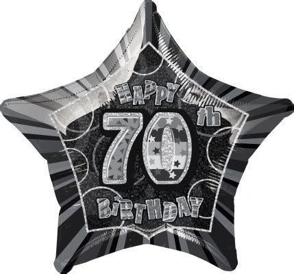 Folie Schwarz Glitzer by 70 Geburtstag Glitzer Folien Ballon Schwarz