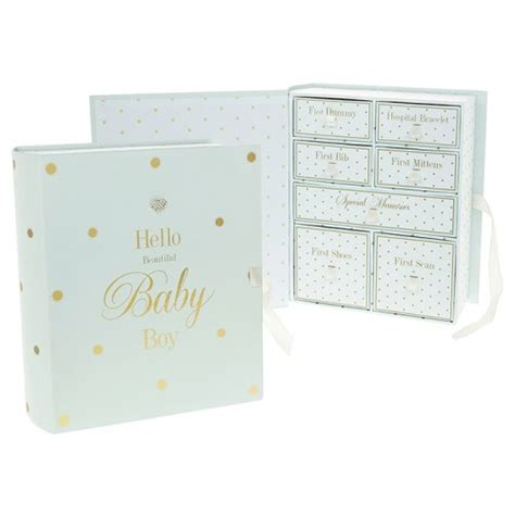 Baby Keepsake Box With Drawers by Mad Dots Baby Boy Keepsake Box With Drawers Baby And