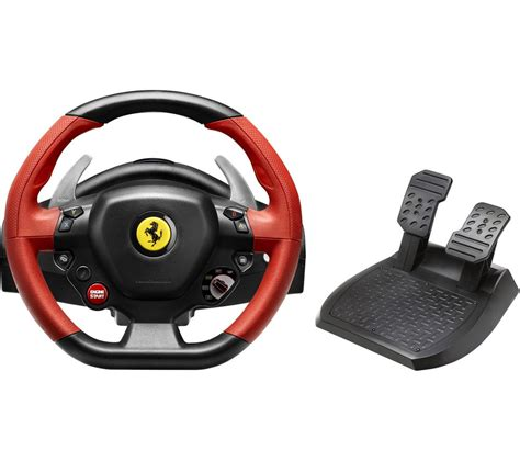Thrustmaster 458 Spider Gaming Pc Thrustmaster 458 Spider Steering Wheel Black