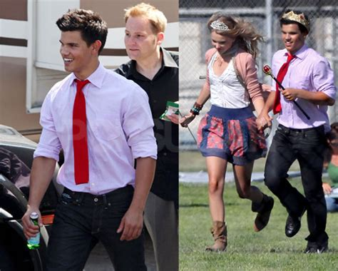 emma roberts and taylor lautner film photos of taylor lautner and taylor swift popsugar celebrity