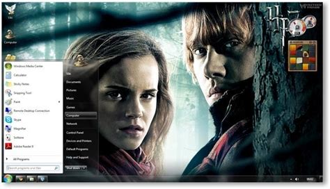 theme exles in harry potter harry potter deathly hallows windows 7 theme and wallpapers