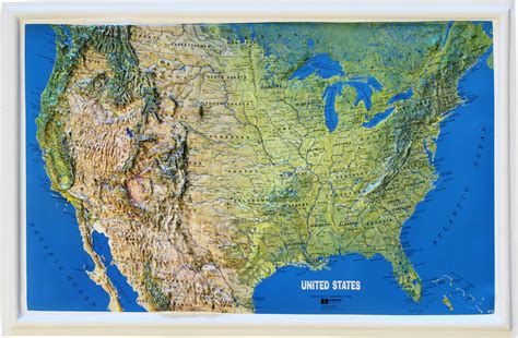 map usa relief relief map for sale only 4 left at 60