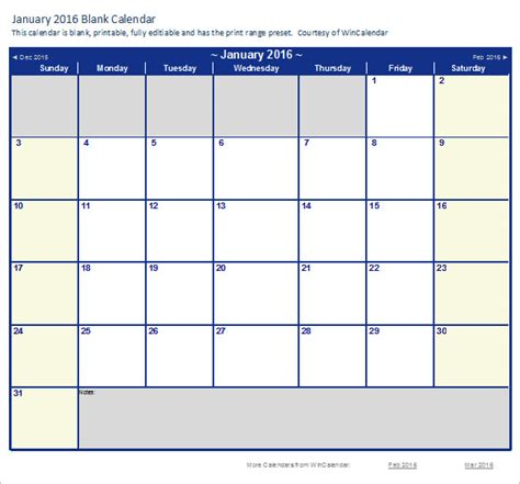 calendar template on excel 2016 calendar templates excel