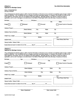 Marriage Records Broward County Kitsap County Marriage License Pdf Form Fill