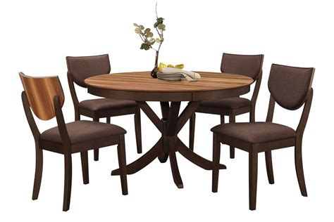 Circular Dining Table For 4 Turner Dining Table 4 Side Chairs