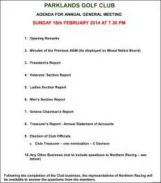 Extraordinary General Meeting Minutes Template by Annual General Meeting Agenda Template Template