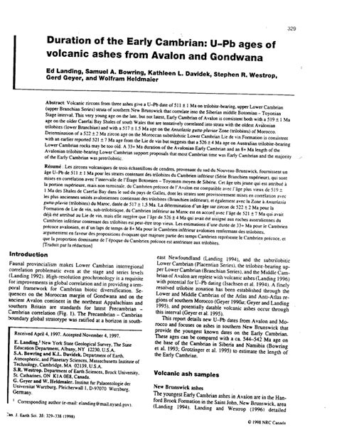 (PDF) Landing, E., Bowring, S. A., Davidek, K., Westrop, S